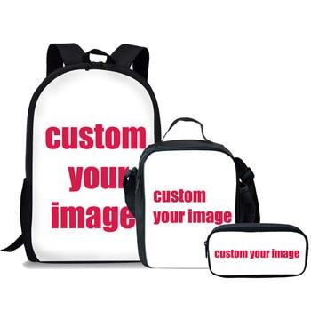 FORUDESIGNS Girls School Bags African Black Girls Hairstyle School Backpack Set Scool Bag For Girl Kids Girl Backpack Junior Bag 9