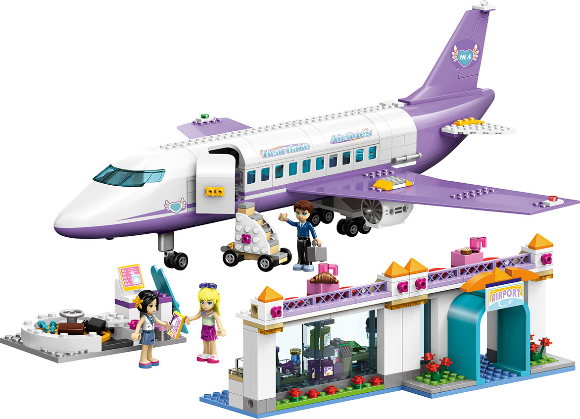701Pcs 79175 Educational Building Blocks Toys For Children Gifts City Girls Friends Plane Airport Compatible With Friends gudi blocks city air plane building blocks international airport compatible legoinglys block educational toys for children gift