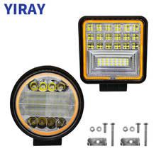 цена на YIRAY LED 72W 126W Work Light Bar For Off Road Truck Boat Jeep 4x4 SUV ATV UAZ Bus Car Lamp weketor 12V 24V Car Accessories