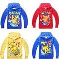 Algodón del Otoño del resorte Imprimir Pullover Hoodies Sudaderas Ropa de Los Niños del Anime Ropa Camisetas de Manga Larga para 3-8 Años niños
