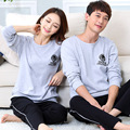 High Quality Long-sleeve sleepwear Cotton pajamas lounge pijama feminino set lovers pajama sets Lovers Homewear Sleepwears