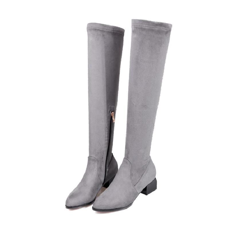 the sock knitter s workshop SALCXO winter boots women over the knee boots female sock boots womans black autumn sexy riding boots hot sale &3-13