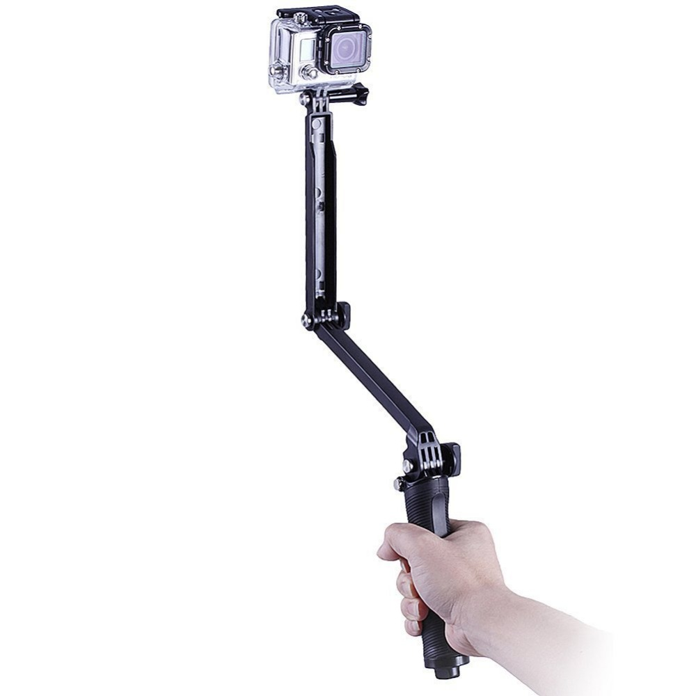 GoPro font b Accessories b font Collapsible 3 Way Monopod Mount Camera Grip Extension Arm Tripod