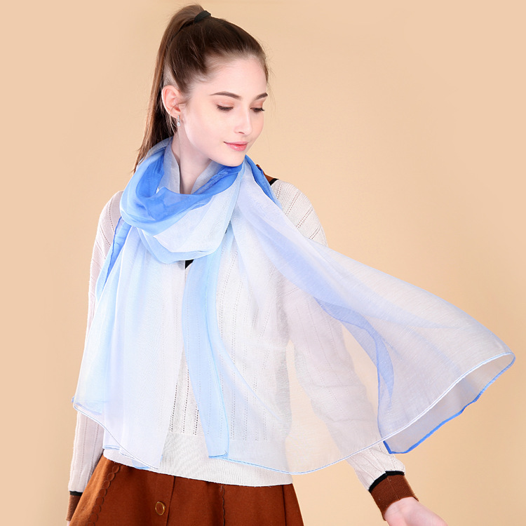 Spring Summer Sunscreen Shawl Beach Scarf Fashion Women Chiffon Scarves
