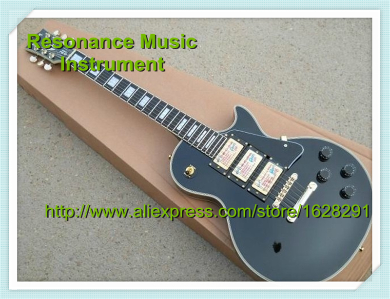 Top Selling Chinese Musical Instruments Black Three Pickups LP Custom Electric Guitars Kits Left Handed Available стоимость
