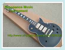 Top Selling Chinese Musical Instruments Black Three Pickups LP Custom Electric Guitars Kits Left Handed Available