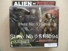 Freies Verschiffen NECA Alien VS Predator Tru Exklusive 2 PACK PVC Action figur Spielzeug MVFG036