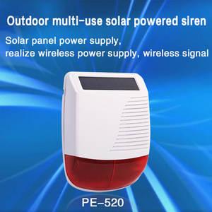 PGST New 433MHz Wireless light Flash Strobe Outdoor Solar Waterproof Siren for Home Burglar