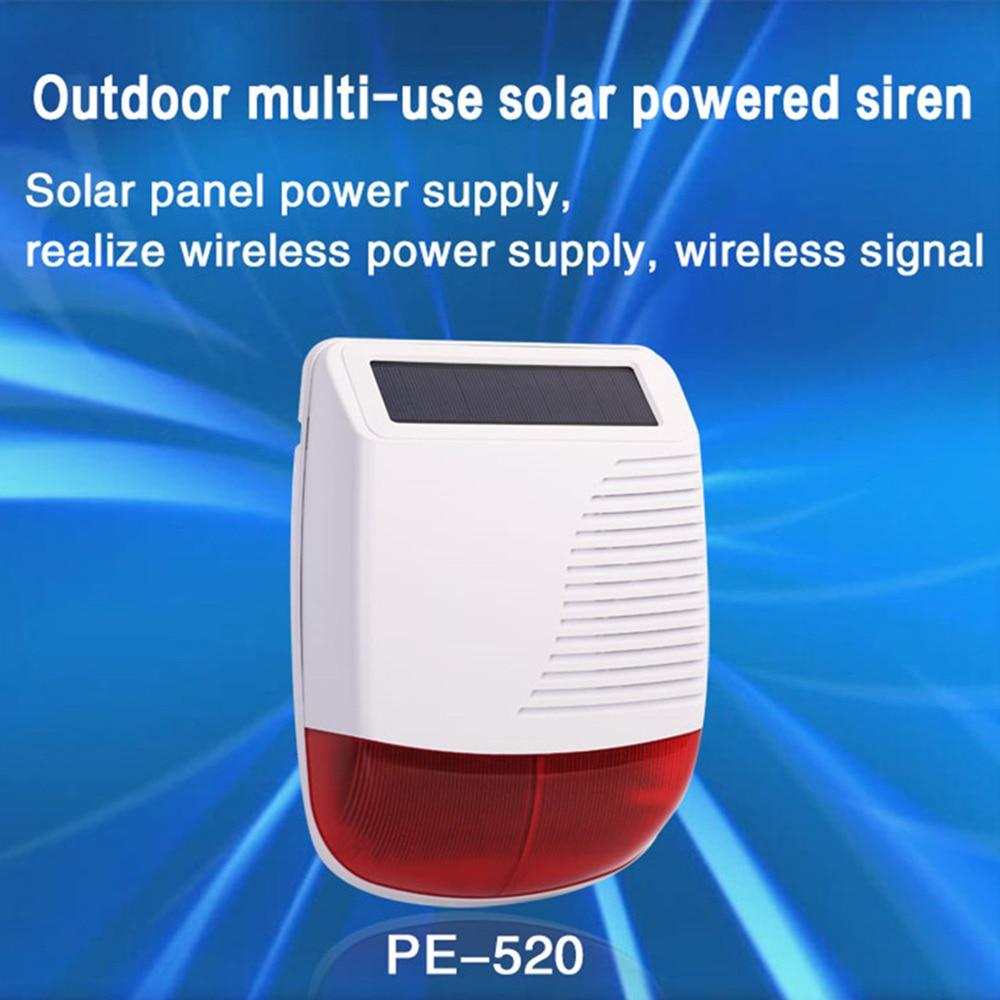 PGST New 433MHz Wireless Light Flash Strobe Outdoor Solar Waterproof Siren For Home Burglar Wifi GSM Home Security Alarm System