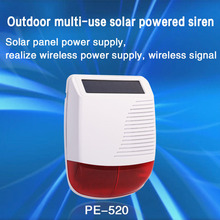 PGST New 433MHz Wireless light Flash Strobe Outdoor Solar Waterproof Siren for Home Burglar Wifi GSM Home Security Alarm System kerui w193 wifi 3g gsm pstn rfid wireless burglar smart home security alarm system with outdoor waterproof siren motion detector