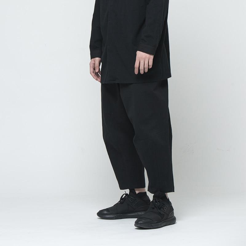 2018 Catwalk Lâche Styliste Taille Nouveau Noir Hommes De Drapage Pantalon Plus Gd La Cheveux Vêtements 44 Mode Rue 27 Harem Costumes lK1JTFc3