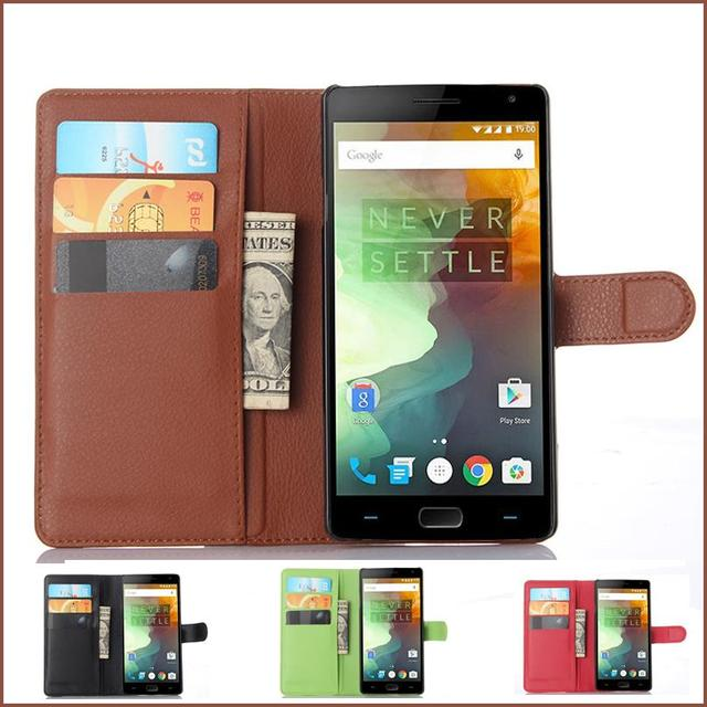 classic fit e943b c3a2d US $3.7 15% OFF|For OnePlus 2 case One Plus Two Phone Cases Luxury Flip Pu  Leather For OnePlus 2 One Plus Two With Card Holder-in Flip Cases from ...