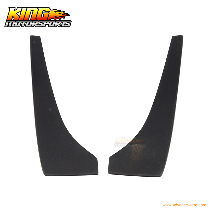 For 2010-2012 Ford Mustang V6 Rear Bumper Lip Aprons 2PC Unpainted - PU Poly Urethane ford mustang v6 2011