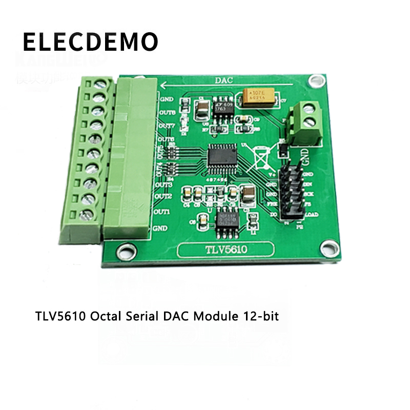 TLV5610 Module Octal Serial DAC Module TLV5610/TLV5608/TLV5629 Digital to Analog Conversion Function demo Board-in Demo Board Accessories from Computer & Office