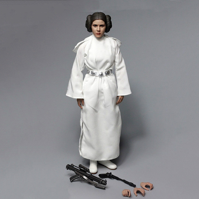 Clothing set AFIRE A012 1/6 Scale New Hope Princess Leia Action Figure Toy For Collection A013 only clothing set With no headClothing set AFIRE A012 1/6 Scale New Hope Princess Leia Action Figure Toy For Collection A013 only clothing set With no head