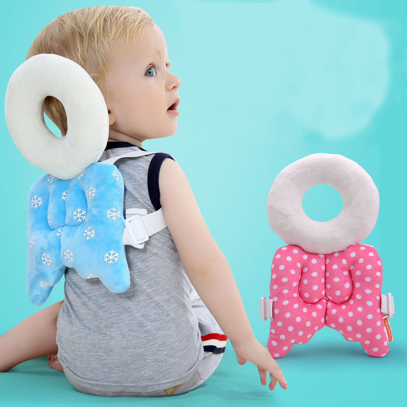 Mother & Kids Lower Price with New Baby Head Protection Pillow Pad Toddler Headrest Pillow Cute Baby Neck Wings Nursing Drop Resistance Cushion Baby Toy Pillow Baby Bedding