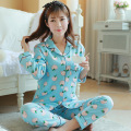 Cotton Materinty Nursing Pajamas Long Sleeve Pajamas Set Maternity Sleepwear for Pregnant Women BreastFeeding Nightgown B361