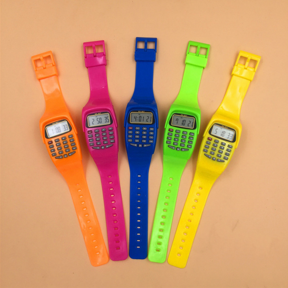 NOYOKERE LED Calculator Watch Electronic Digital Chronograph Computer Kids Children Boys Girls Sport Rubber Wrist Watches