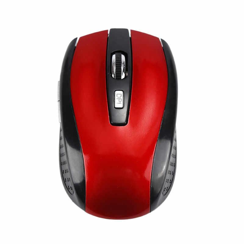 Hot Sale 1PC 2.4GHz Mouse Nirkabel 6 Tombol USB Optical Scroll Mouse Tanpa Kabel untuk PC Tablet Laptop permainan Komputer Gamer Mouse