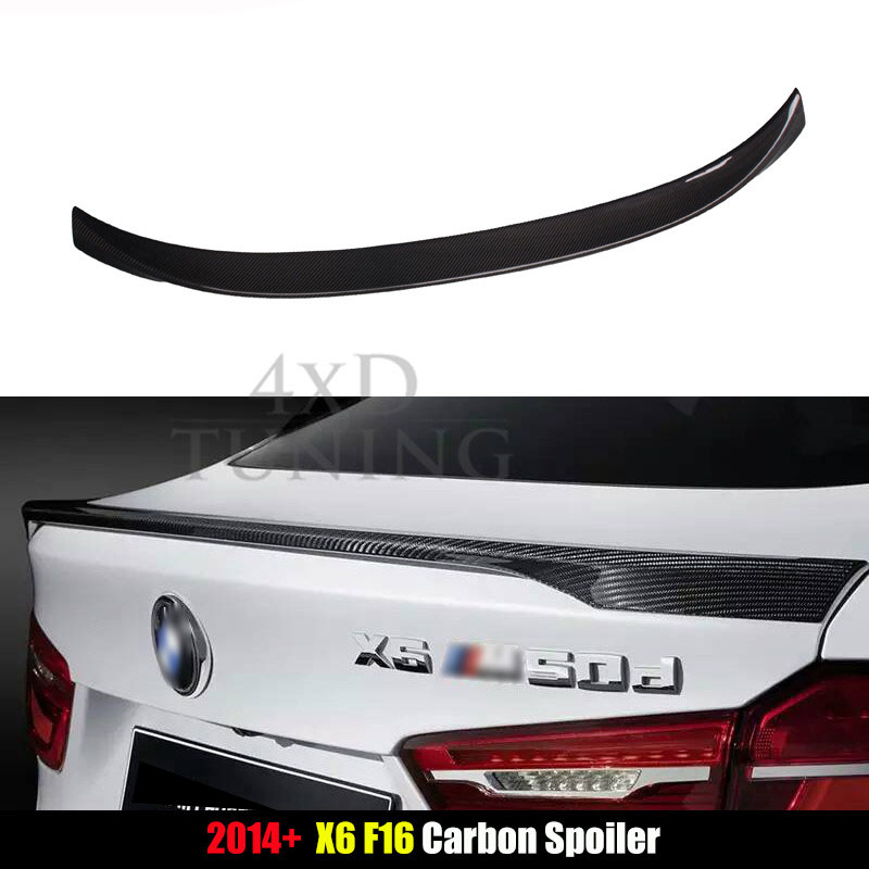 For BMW M Performance Style X6 F16 Spoiler X Series F16 Carbon Fiber Rear Spoiler