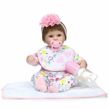 NPK42cm New bebe Reborn Menina Children Best Christmas gifts Silicone Reborn Baby Dolls for Kids Handmade Princess Bonecas(China)