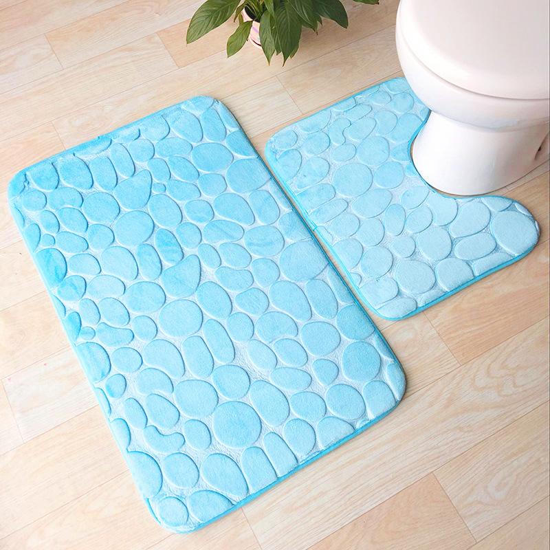 Bath Mats 2 Pcs Set Toilet Seat Cover