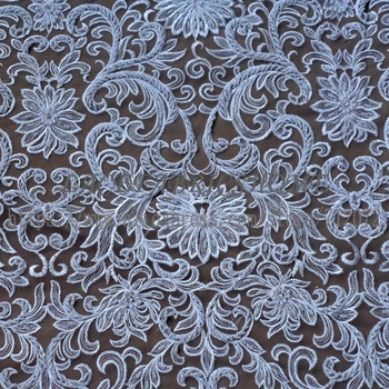 Super heavy beaded off white and other 9 colours wedding dress lace fabric 51'' width