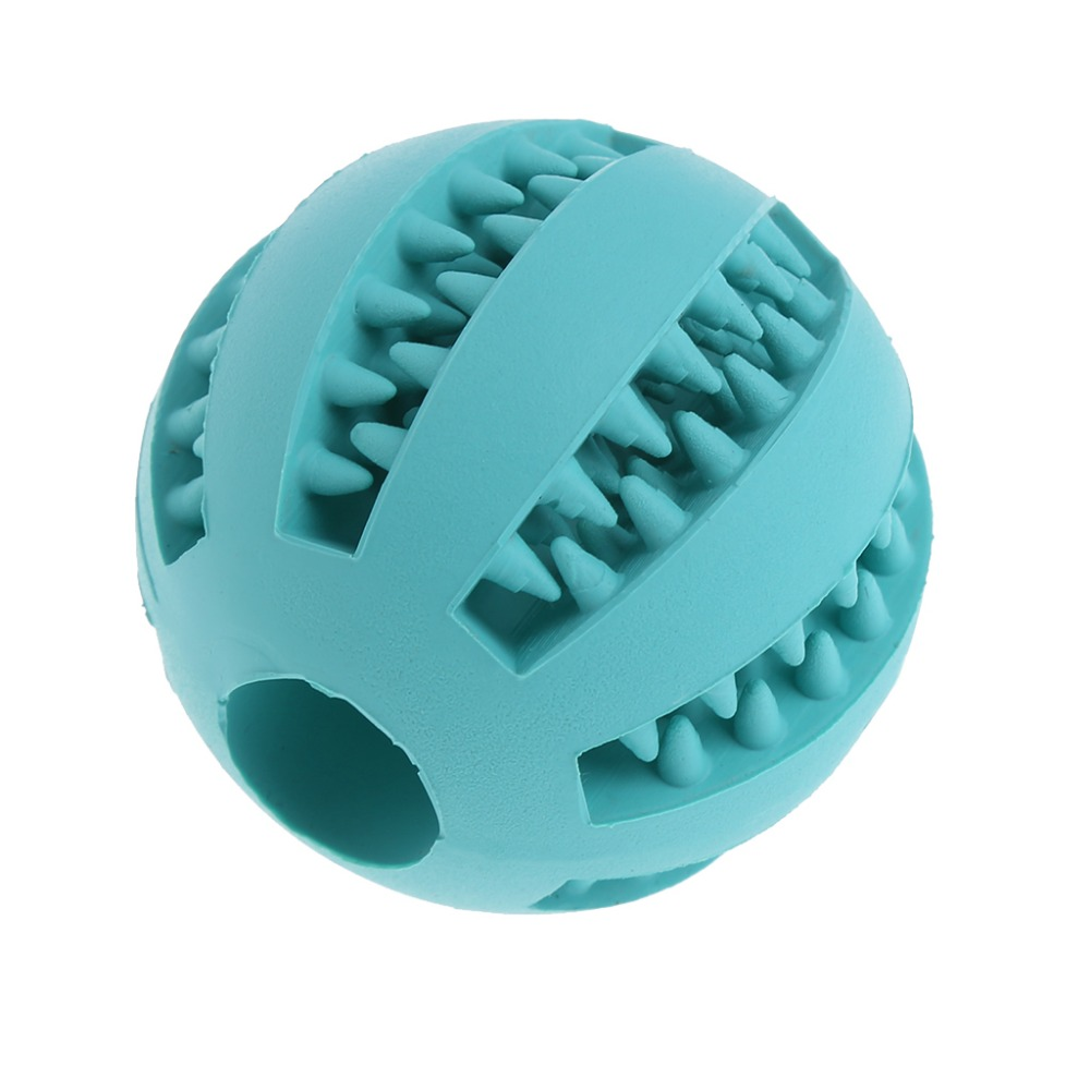 Dog Toys Balls : Soft rubber chew ball toy for dogs dental bite resistant