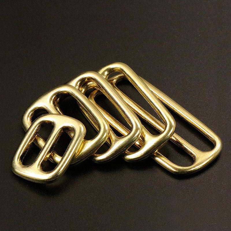 Solid Brass Tri Glides Slide 3 Bar Rectangle/Square Adjuster Buckle For Leather Craft Bag Shoulder Strap Belt Webbing