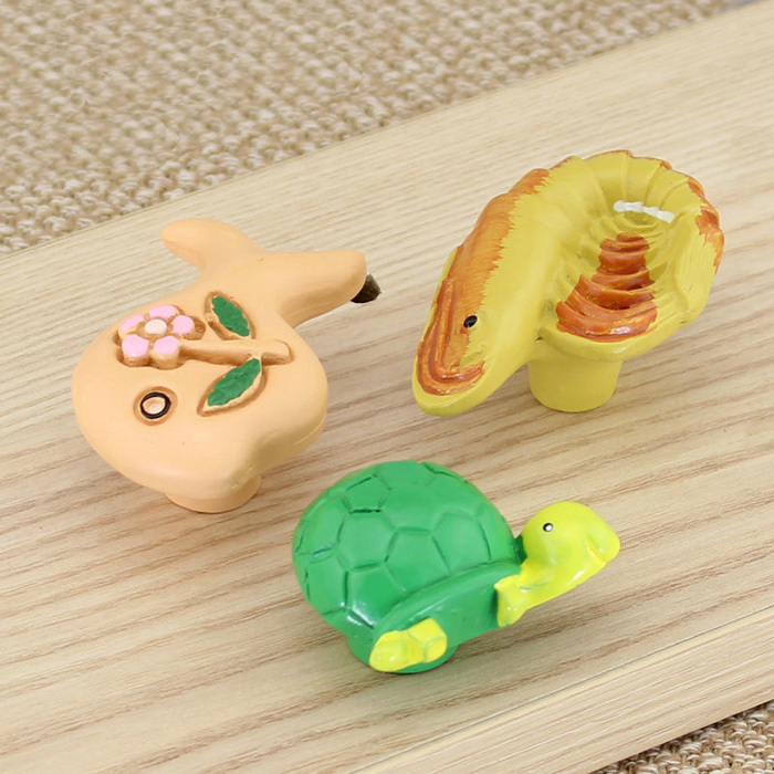 Lovely Children Kids Bedroom Furniture Cartoon Drawer Knobs resin Kitchen Cabinet Knobs Dresser Pulls Knob Handles