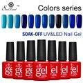 Saviland Gradient Red Blue Series Colors Esmaltes Permanentes UV Nail Gel Polish Soak Off Nail Gel Lacquer Cosmetic Set