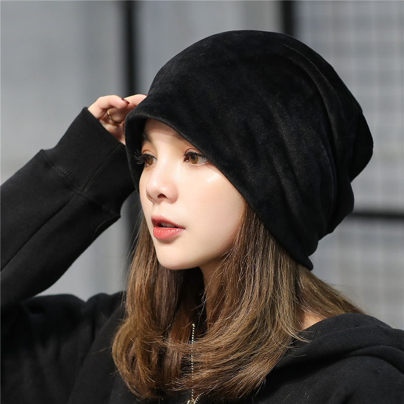 USPOP 2018 HOT Fashion winter hats women beanies men women casual thick  warm velvet beanies unisex solid color skully hat cap -in Skullies   Beanies  from ... 0c1ed417899