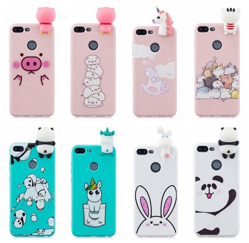 3b8180d1eb5 TPU Silicone Cover For Huawei Honor 9 Lite Case Cute Unicorn Panda Rabbit Phone  Case for Funda Huawei Honor 9 Lite Case Coque
