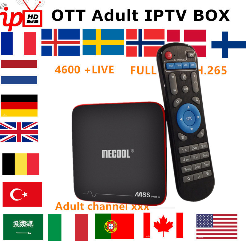 French IPTV Box Mecool M8S PRO android TV box 7 1 IPTV Subscription Sweden belgium UK