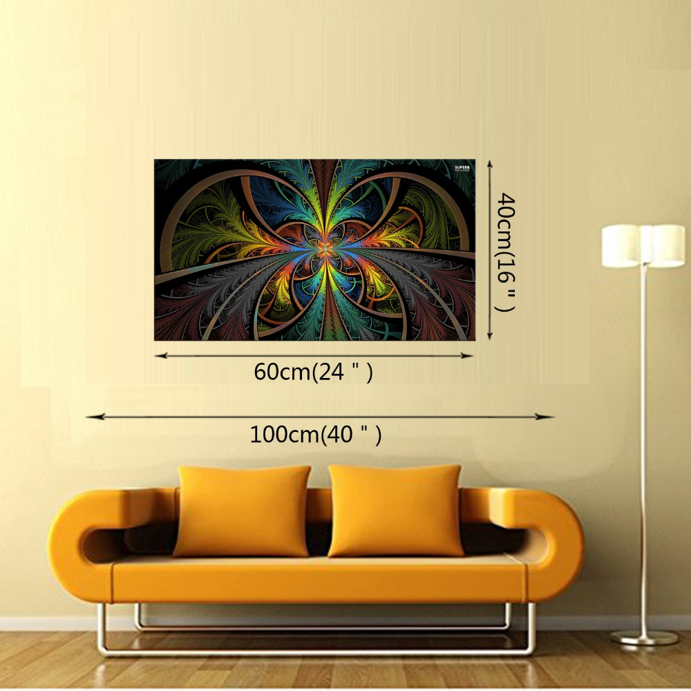 1 Panel Modern Colorful Feather Wall Painting Landscape Canvas ...