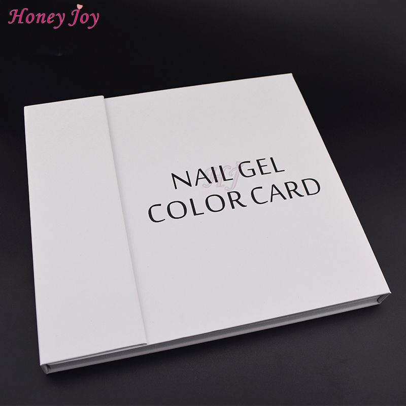 1 Set Simple White Design Professional 120 Colors Nail Gel Polish Display Board Card Book Chart With Tips Nail Art Salon