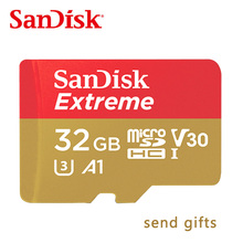 Free shipping SanDisk Memory Card Extreme microSD UHS-I microSDXC Class10 U3 100MB/S 32GB 64GB TF Card Support 4K UHD