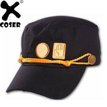 XCOSER Kujo Jotaro JOJO's Bizarre Adventure Cosplay Black Costume Props Casual Cap