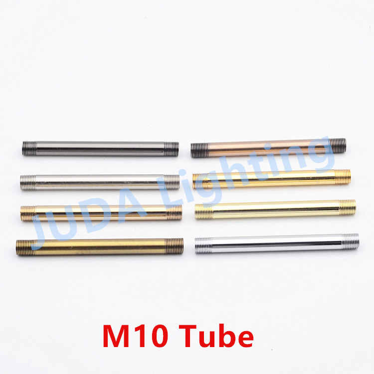 M10 lamp tooth tube M10 thread pipe tube for led chandeliers pendant light lamp base connection tube Colorful tube for wall lamp