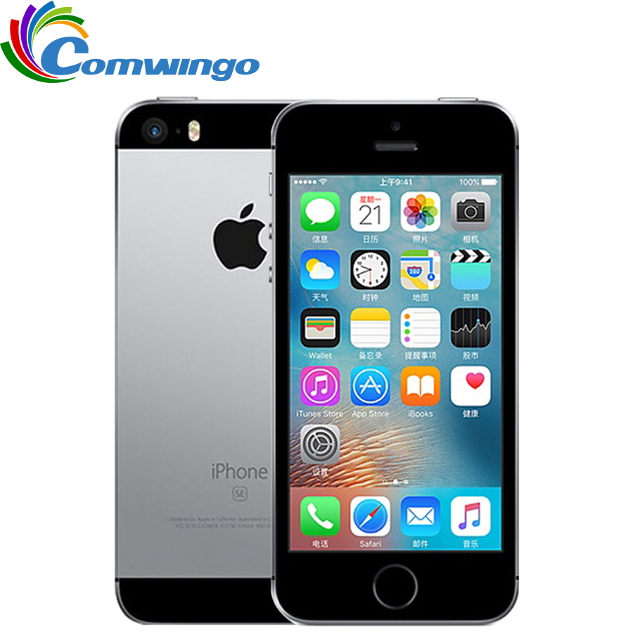 Originais Apple iPhone Desbloqueado SE 2GB RAM 16G/32G/64GB ROM Mobile Phone A9 iOS 9 Dual Core 4G LTE 4.0 ''Impressão Digital Smartphone