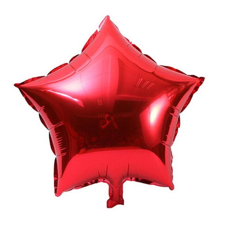 5 pcs 18 inch New Foil Star Balloon Helium Metallic Birthday Summer outdoor birthday parties Wedding children playing Decor f50