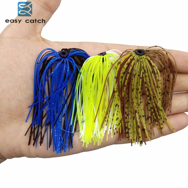 10 Bundles 30 Strands Silicone Fly Tying Squid Skirts Fishing Rubber Jig Lures