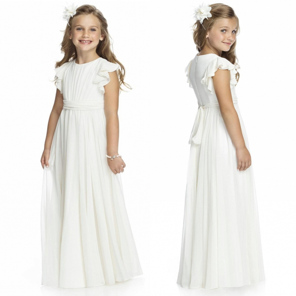 first communion   dresses   for   girls   2018 white chiffon Cherubic Children Pageant   Dresses     flower     girl     Dresses   for weddings