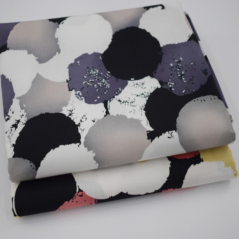 2019 novas CORES círculos Geométricos tingimento reativo 2 metro de tecido de algodão elástico para o vestido telas tecido tissus au tissu tecidos