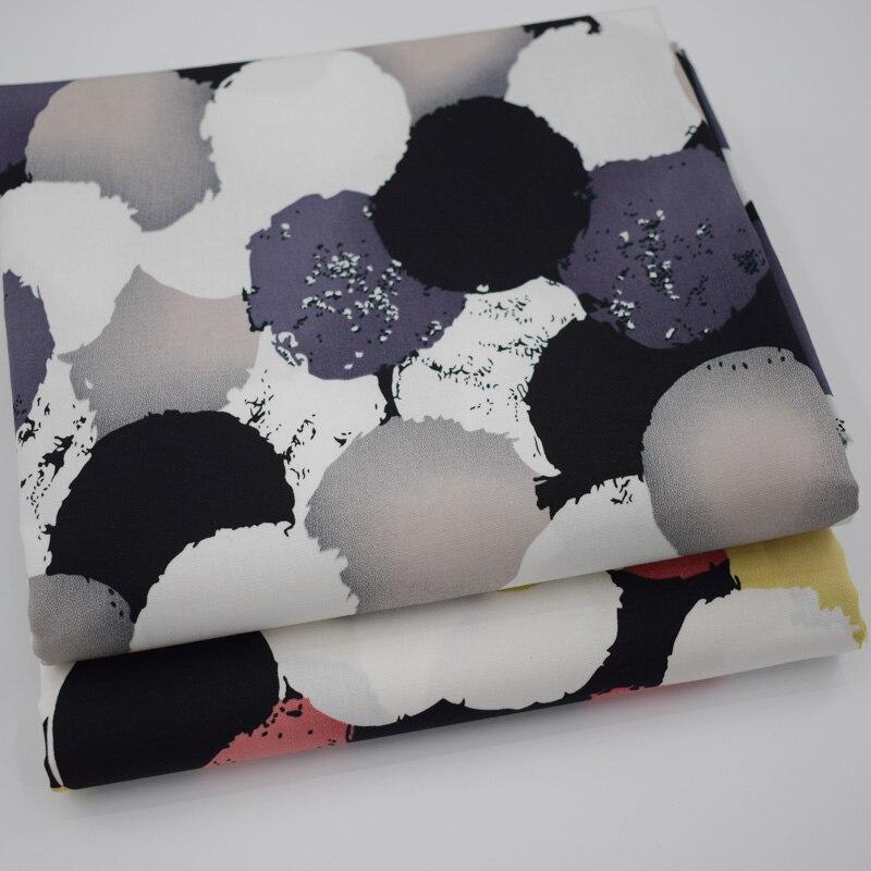 2019 novo 2 cores geométrico círculos reativos tingimento tecido de algodão elástico para vestido telas tecido tissus au metro tissu tecidos