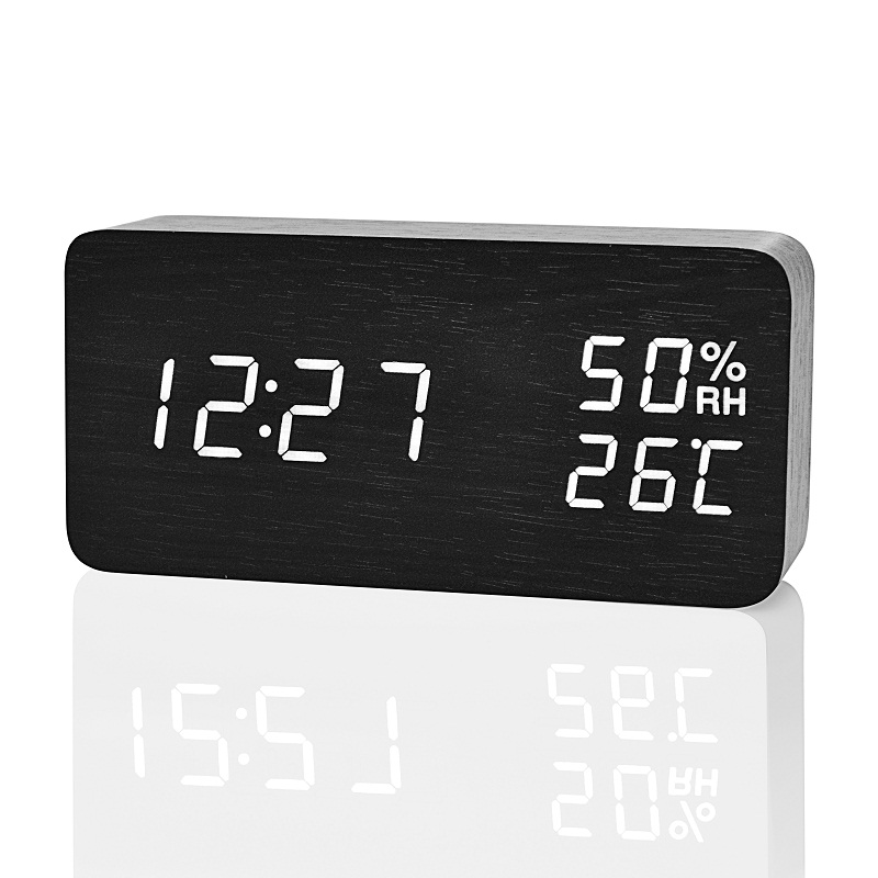 Image 3 - FiBiSonic Modern LED Alarm Clock,Despertador Temperature Humidity Electronic Desktop Digital Table Clocks-in Alarm Clocks from Home & Garden