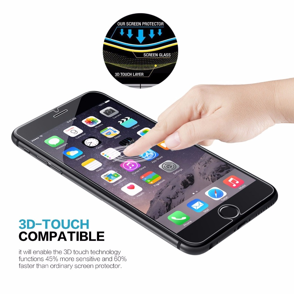3e5644338f1 Premium Tempered Glass Screen Protector for iPhone 5 5S SE 6 6S 7 8 Plus  5.5 X 10 Toughened protective film Free Shipping-in Phone Screen Protectors  from ...