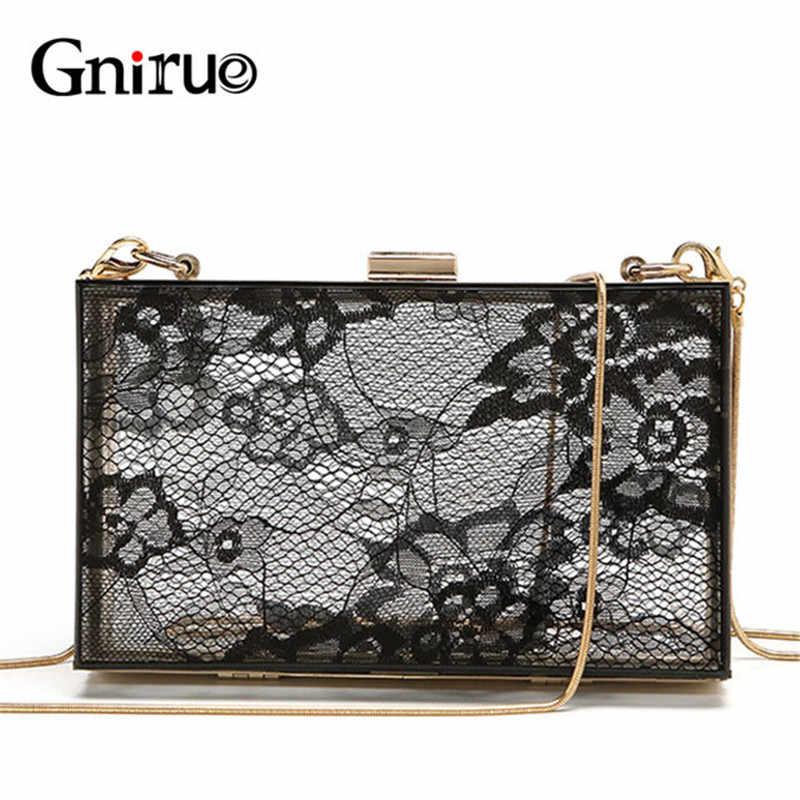 Female Delicate Lace Acrylic Clutch Bags Women Chain Shoulder Crossbody Bag  Fashion Transparent Evening Bag Handbags 1e589c4ab112