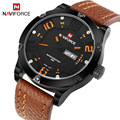 2017 top brand naviforce deporte de los hombres relojes militar hombres de cuarzo relojes horas fecha reloj de cuero reloj de pulsera relogio masculino