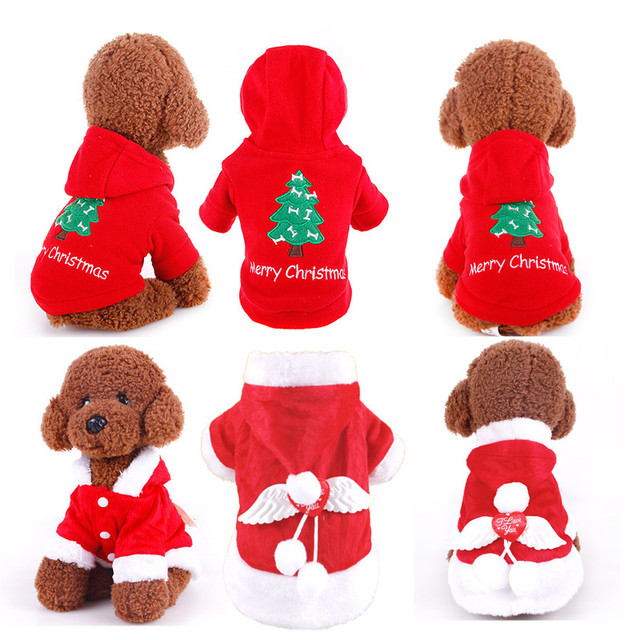 2018 Winte Christmas Dog Clothes Keep warm Dogs Coat Pet Clothes Hoodie Chihuahua Yorkies Dress festival Dress up Clothing xs-xl
